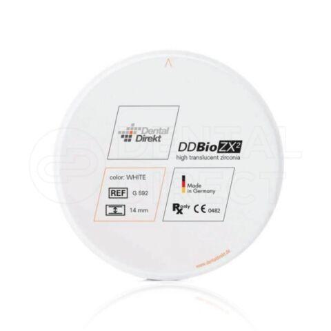 Disc zirconiu translucent, alb, DD Bio ZX² 98mm